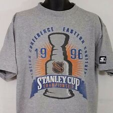 1996 Stanley Cup T Shirt Vtg 90s Starter Made In USA Gray Mens Size XL