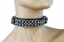 Double Chrome Chain Choker Punk Gothic Cosplay Retro  Sexy