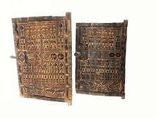 "Set of 2 Dogon Doors w/ Figures  Mali African 24""h by 16"" w    # 5"