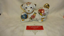 Collectable Hand Painted Franklin Mint Imperial Puppy Of Satsuma Figure & COA