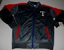 Texas Rangers Full Zip Letterman Style Track Jacket Large Tall Embroidered MLB