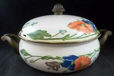 Villeroy Boch AMAPOLA 4 Quart Metal Covered Casserole GREAT CONDITION