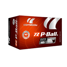 Cornilleau Poly Ball (Box of 72) White Table Tennis Balls