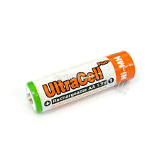 2 pcs AA 3200mAh NIMH Rechargeable Battery HR6 LR06 2A UltraCell Plus Orange