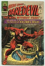 DAREDEVIL #13 ( 1965 ) ( FN ) SECRET ORIGIN OF KA-ZAR & ZABU vs. THE PLUNDERER