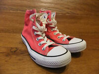 Converse CT All Stars Red Canvas Hi Top Trainers Sneakers Size UK 3 EUR 35