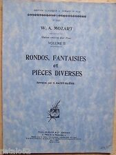album partition RONDOS FANTAISIES PIECES DIVERSES vol. II - MOZART - Durand 9322