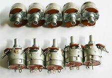 10 VINTAGE CTS 20 Ohm Switched Pot Potentiometers AUDIO Rheostat Resistors