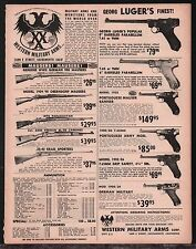 "1964 LUGER 6"" 8"" Parabellum, Portugese Mauser & Army  Western Military Arms AD"