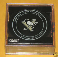 PITTSBURGH PENGUINS 2015 Stanley Cup Playoffs OFFICIAL GAME PUCK NEW Team Logo