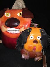 3D Leather Dog Head Purse Pouch Bag with change purse