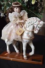 1990 THE COLLECTABLES PHYLLIS PARKINS  **CASSANDRA** WITH HER RESIN CAROUSEL HOR