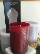 10 OZ YANKEE CANDLE PARRAFIN JAR NIGHTSHADES LACQUER RED PASSION AWAKENS TUMBLER