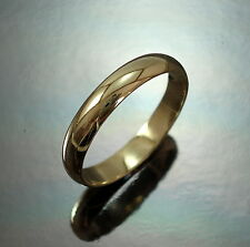 9ct GOLD Wedding Band Ring 4 mm Heavy D- Shape UK Size Z Hallmarked Gift Boxed