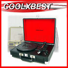 CRUISER PORTABLE TURNTABLE RECORD PLAYER w BUILT IN SPEAKER 3 SPEED REFURBISHED