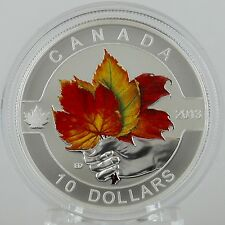 Canada 2013 Maple Leaf Strong & Free 1/2 oz. Pure Silver $10 Matte Proof Color