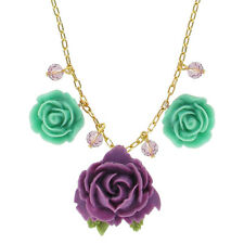 "Tarina Tarantino Parade ""Pasadena"" Necklace Purple & Mint *Made in California*"