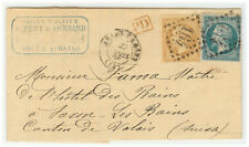 France Cover - Nap III - 1868 Arles to Saxon les Bains (SW) -
