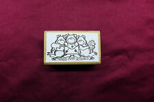 Hogs and Kisses Valentines Day Love Rubber Stamp Pigs Rubber Stampede