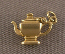 Vintage 14K Yellow Gold Teapot Charm - Hinged Lid Opens!  3.8 grams