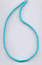 "SLEEPING BEAUTY TURQUOISE 4MM HEISHI/BUTTON/RONDELLE BEADS - 18"" Strand - 972B"
