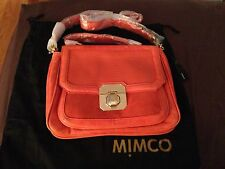 MIMCO BNWT Taylor Satchel Bag Handbag in Dark Coral RRP $499