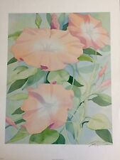 WATERCOLOR LITHOGRAPH BOTANICAL FLOWER PAINTING SIGNED BY ARTIST ROBERT WHITE
