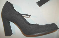 PRADA Vintage Authentic Gray Pump Fabric Heel Mary Jane Sz 5.5 or 35.5 EUC $400+