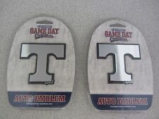 Lot Of 2 New In Package Tennessee Volunteers Chrome Auto Emblem