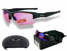 Oakley Flak Jacket XLJ Sunglasses POLISHED BLACK_PRIZM TRAIL OO9009-08