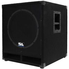 "Seismic Audio Powered 15"" Subwoofer Cabinet PA DJ PRO Band Speaker Active S"