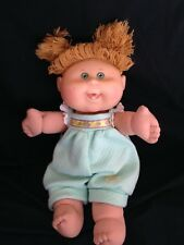 CABBAGE PATCH KIDS DOLL 2004 TEETH BLONDE HAIR GREEN EYES PLAY ALONG