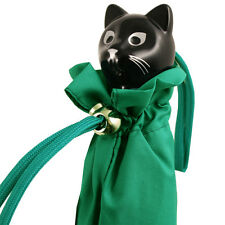 Cat Folding Umbrella by Rainbow of Milan - Emerald