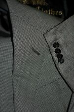 $4125 Oxxford Wool Houndstooth Beige Suit 42R 36W