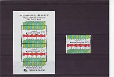 KOREA - SG2016-MS2017 MNH 1992 PHILATELIC WEEK