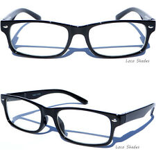 Retro Clear Lens Eye Glasses Rectangular Black Frame Rectangular Polite Horn Rim
