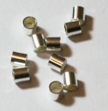 Sterling Silver Crimp Beads 3x3MM Pkg.Of 100 /1115AS