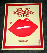 1975 Figi/Wilson Giftware Hot-Lips Poster-Gram #H204 Original Poster NOS New