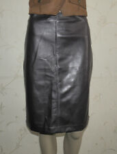 Superb Purple Look Leather VERO MODA Knee Length Straight Skirt Sz M L 21 Grunge