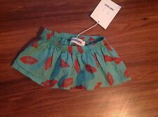 NWT JCREW Crewcuts Bobo Choses Lips skirt Sz 4/5 GREEN $128 SOLDOUT