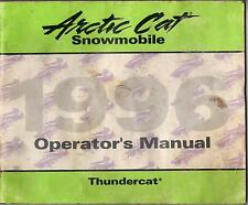 1996 ARCTIC CAT THUNDERCAT SNOWMOBILE OPERATOR'S MANUAL  P/N 2255-257 (839)