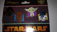 SET 4 PINS DISNEY DISNEYLAND PARIS : STAR WARS TSUM TSUM