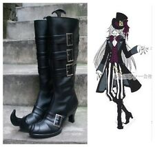 Black Butler Undertaker Cosplay Costume Boots Boot Shoes Shoe
