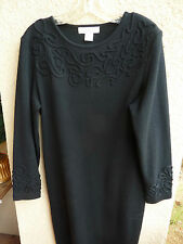 Sophisicate Petite LBD Wool Blend Knit  Piping Design at Neck & Sleeve   Med