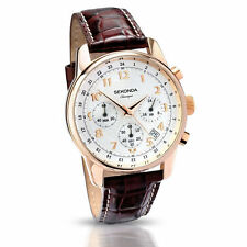 Mens Sekonda rose gold plated chronograph watch 3063, 2 Year sekonda warranty