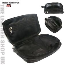Casual Real Leather Mens High Quality Travel Wash BagToiletry Organizer Bag 3530