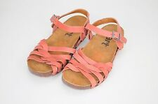 ART Red Coral Premium Leather Ladies Strappy Gladiator Sandals Size 5