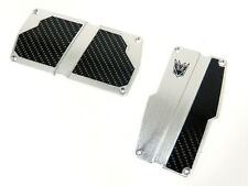 2PC UNIVERSAL RACING ALUMINUM CARBON DECEPTICON PEDAL PAD COVERS AT AUTO TRANS
