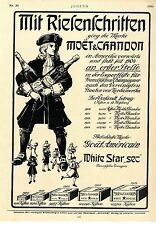 Moet & Chandon Gout Americain White Star sec Ad 1906