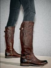 Frye Phillip Riding Boots Brown Vintage Leather Womens Size 8.5 Melissa phillip